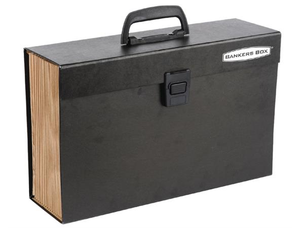Sorteerkoffer Bankers Box Handifile 19-vaks zwart