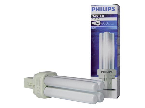SPAARLAMP PHILIPS MASTER PL-C 10W 830 2P