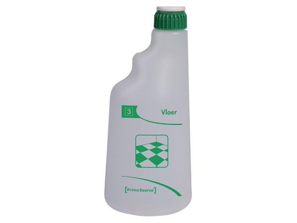 Sproeiflacon PrimeSource groen voor de vloer leeg 600ML