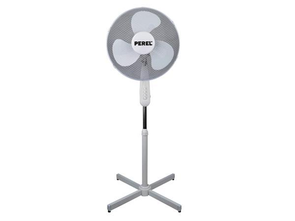 Statiefventilator Perel Ø40cm wit