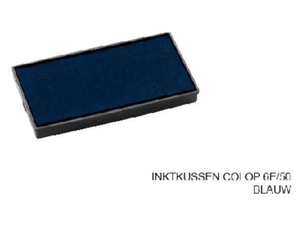 Stempelkussen Colop 6E/50 blauw