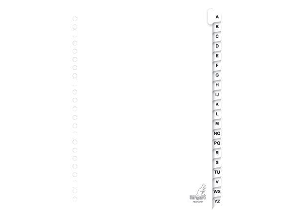 Tabbladen Kangaro 23-gaats PK420AZM 20-delig alfabet karton