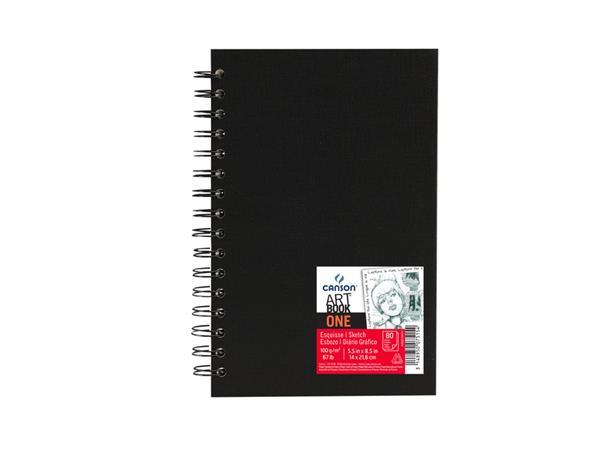 Tekenboek Canson One 14x21.6cm 80v 100gr spiraal