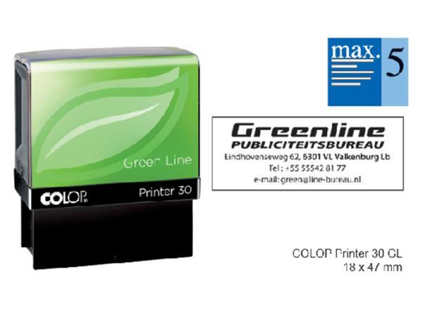 Tekststempel+Colop+30+green+line%2bbon+5regels+47x18mm