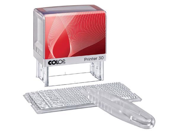 Tekststempel Colop Printer 30/1 5regels 47x18mm
