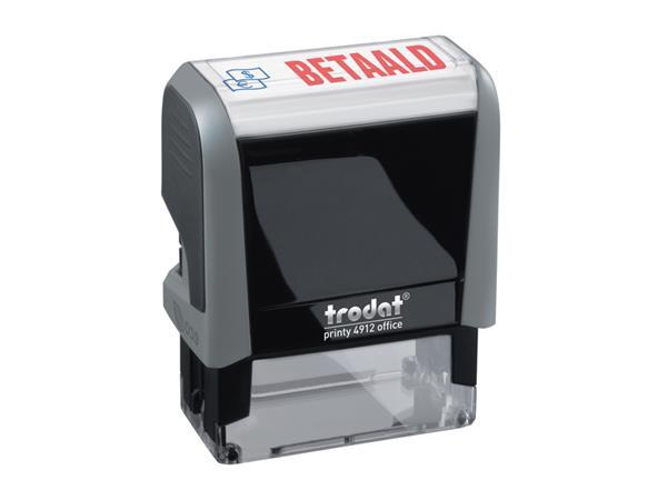 Tekststempel+Trodat+Printy+4912+betaald+blauw+rood
