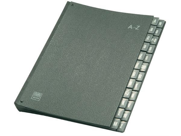Sorteermap Elba A4 A/Z 24 tabs 320gr zwart