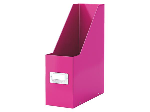 Tijdschriftcassette Leitz WOW Click & Store roze