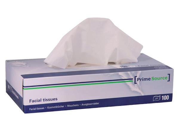 Tissue PrimeSource facial 2-laags 40x100stuks