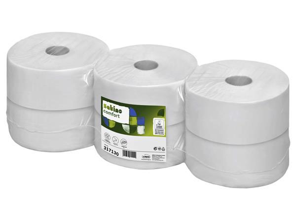 Toiletpapier Satino Jumborol Comfort 2-laags 66mmx380m wit