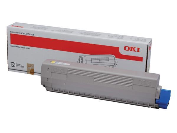 Toner Oki 44844505 geel