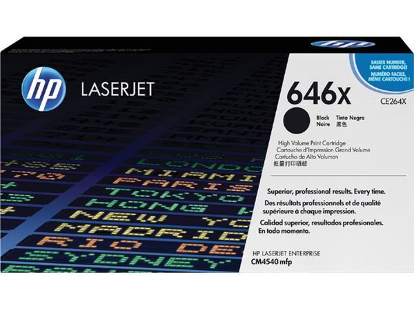 Tonercartridge HP CE264X 646X zwart HC