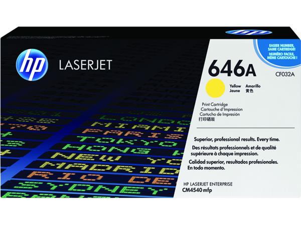 Tonercartridge HP CF032A 646A geel