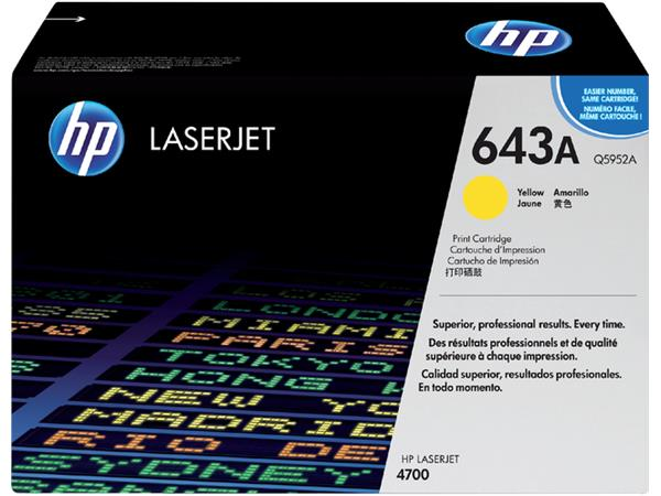 TONERCARTRIDGE HP 643A Q5952A 10K GEEL