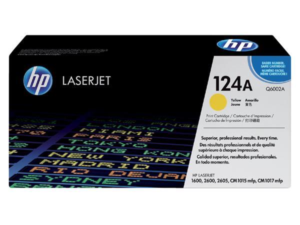 Tonercartridge HP Q6002A 124A geel