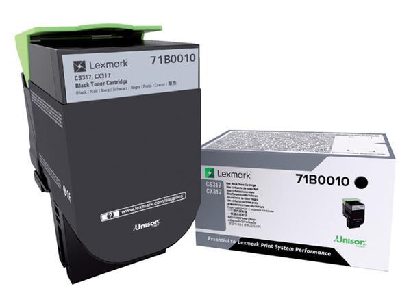 Tonercartridge Lexmark 71B0010 zwart