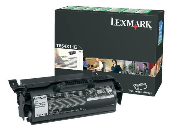 TONERCARTRIDGE LEXMARK T654X11E PREBATE 36K ZWART