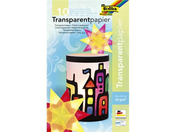 TRANSPARANT PAPIER FOLIA 18X29,7CM 42GR