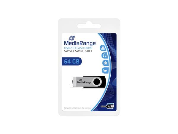 USB-STICK+MEDIARANGE+2.0+64GB