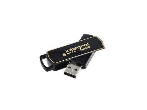 USB-STICK INTEGRAL 3.0 SECURE 32GB ZWART ENCRYPTED