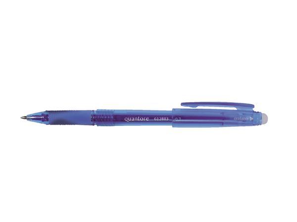 Gelschrijver Quantore erasable 0.7mm blauw