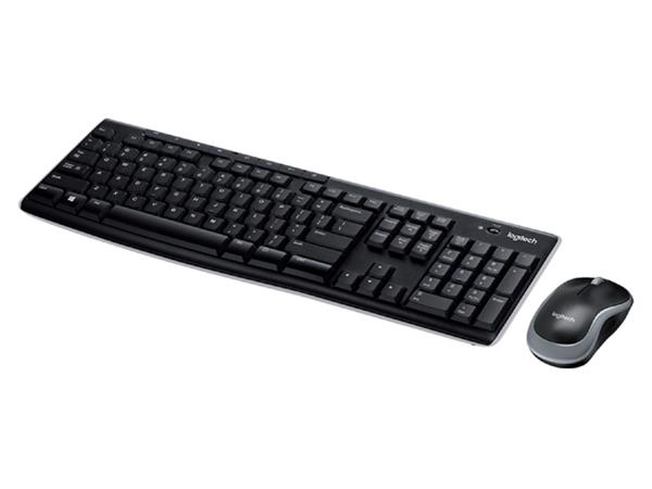 Toetsenbord Logitech MK270 Qwerty +muis zwart