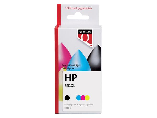 INKCARTRIDGE QUANTORE HP 351XL CB338EE HC KLEUR