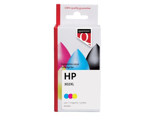 Inktcartridge Quantore HP F6U67AE 302XL kleur
