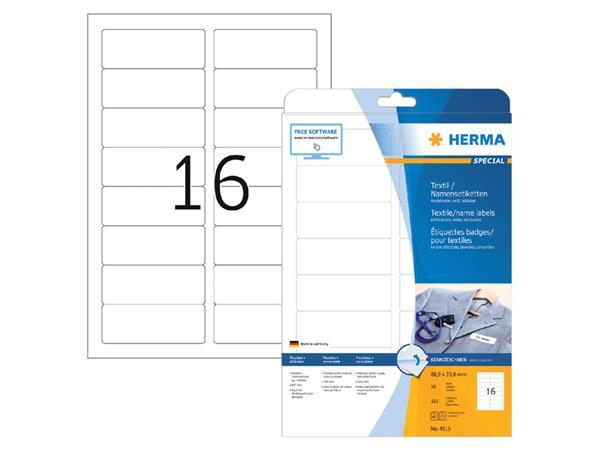 Naambadge etiket Herma 4515 88.9x33.8mm wit