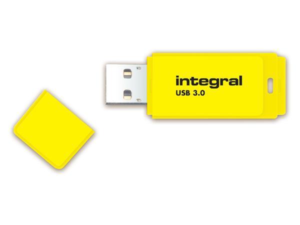USB-STICK INTEGRAL 64GB 3.0 NEON GEEL