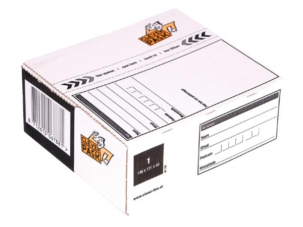 POSTPAKKETBOX 1 CLEVERPACK 195 146X131X56MM