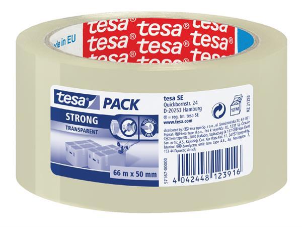 VERPAKKINGSTAPE TESA 57167 50MMX66M PP LOW TR