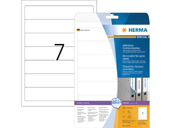 RUGETIKET HERMA MOVABLE 10155 192X38MM 175ST WIT