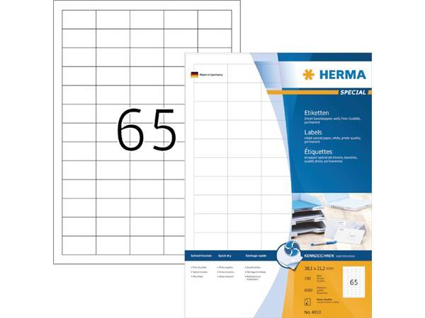 ETIKET HERMA INKPRINT 4810 38.1X21.2MM 6500ST