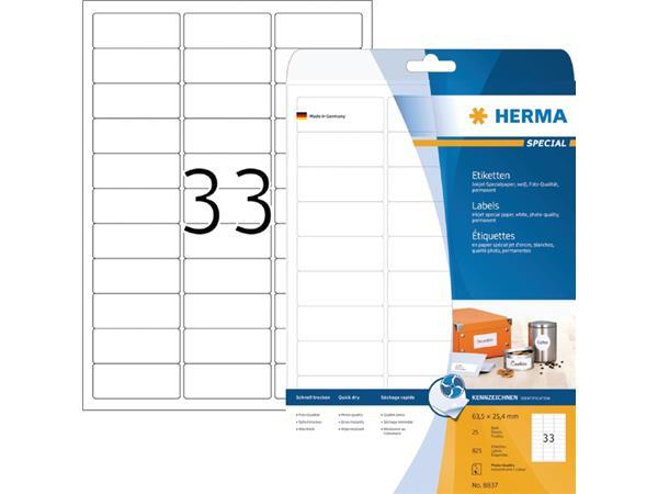 ETIKET HERMA INKPRINT 8837 63.5X25.4MM 825ST