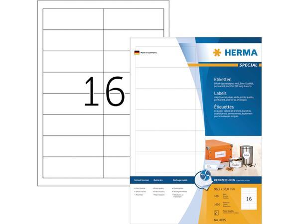 ETIKET HERMA INKPRINT 4815 96.5X33.8MM 1600ST