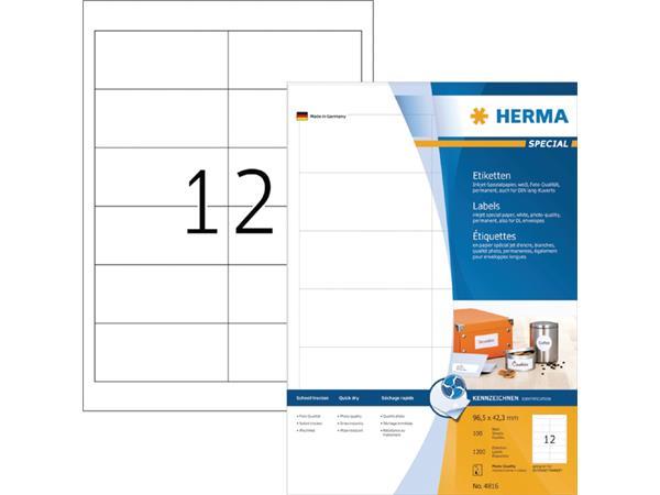 ETIKET HERMA INKPRINT 4816 96.5X42.3MM 1200ST