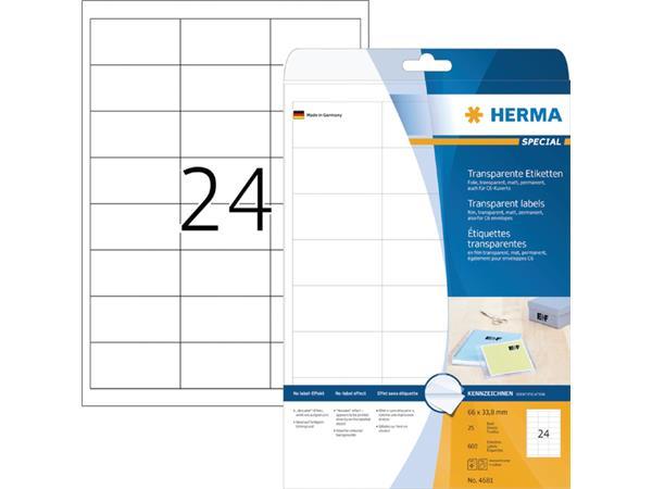 ETIKET HERMA 4681 66X33.8MM TR 600ST