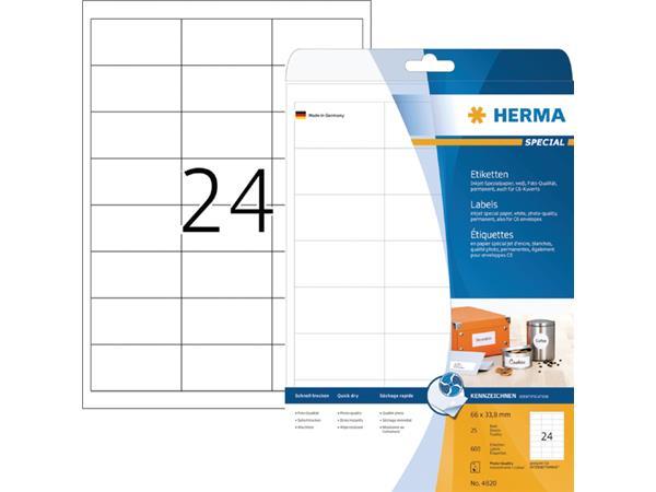 ETIKET HERMA INKPRINT 4820 66X33.8MM 600ST
