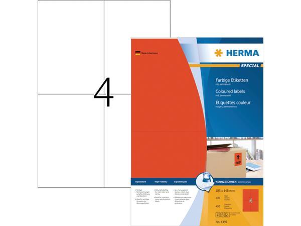 ETIKET HERMA 4397 105X148MM A4 400ST ROOD