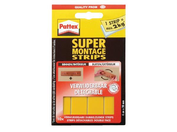 SUPERMONTAGESTRIP PATTEX 2KG VERWIJDERBAAR