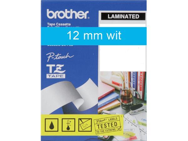 LABELTAPE BROTHER TZE-535 12MMX8M BLAUW/WIT