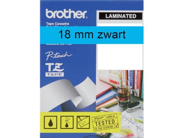 LABELTAPE BROTHER TZE-541 18MMX8M BLAUW/ZWART