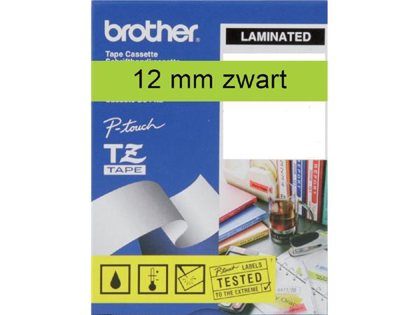 LABELTAPE BROTHER TZE-731 12MMX8M GROEN/ZWART