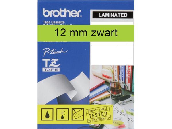 LABELTAPE BROTHER TZE-731 12MMX8M GROEN/ZWART