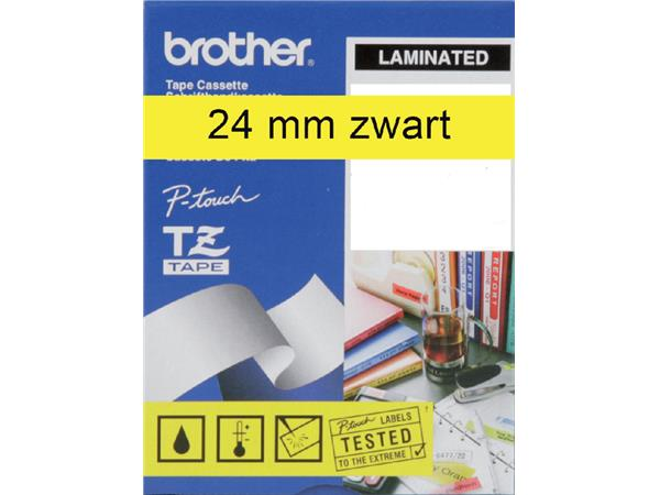 LABELTAPE BROTHER TZE-651 24MMX8M GEEL/ZWART
