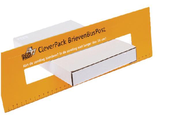 BRIEVENBUSBOX CLEVERPACK A4 350X230X26MM KARTON WT