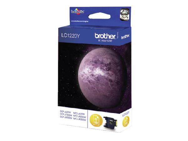 INKCARTRIDGE BROTHER LC-1220 GEEL