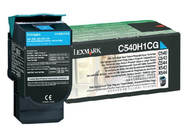 TONERCARTRIDGE LEXMARK C540H1CG PREBATE 2K BLAUW