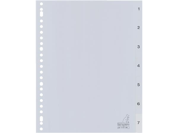 Tabbladen Kangaro 23-gaats G407CM 1-7 genummerd grijs PP